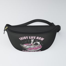 Enjoy Life Now Astronaut Donut Space Fanny Pack