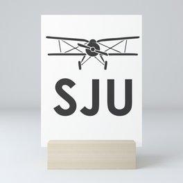 San Juan ,Puerto Rico Airport code Mini Art Print