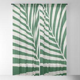Minimalist Palm Leaf Sheer Curtain