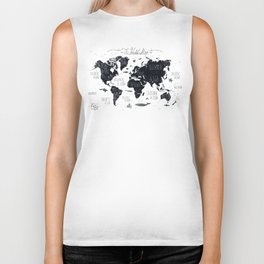 The World Map Biker Tank