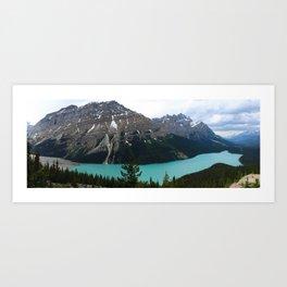 Peyto Lake Panorama Art Print