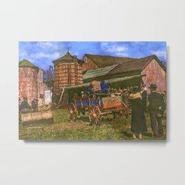 Farm Auction Metal Print