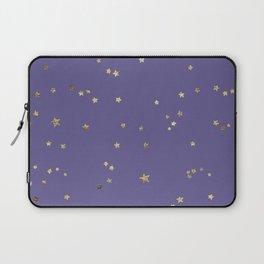 Gold Stars on Purple Night Sky Laptop Sleeve