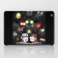 gravity falls iPad Cases featuring Gravity Falls - Monster Manual by Bex M