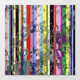 Smearing The Lines Of Colour Canvas Print
