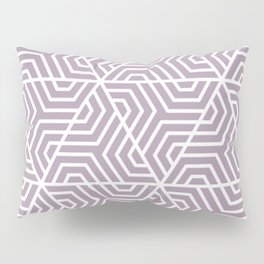 Lilac Luster - violet - Geometric Seamless Triangles Pattern Pillow Sham
