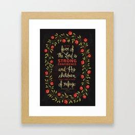 Proverbs 14:26 Framed Art Print