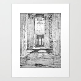 The Temple of Hephaestus in the Agora, Athens, Greece Art Print