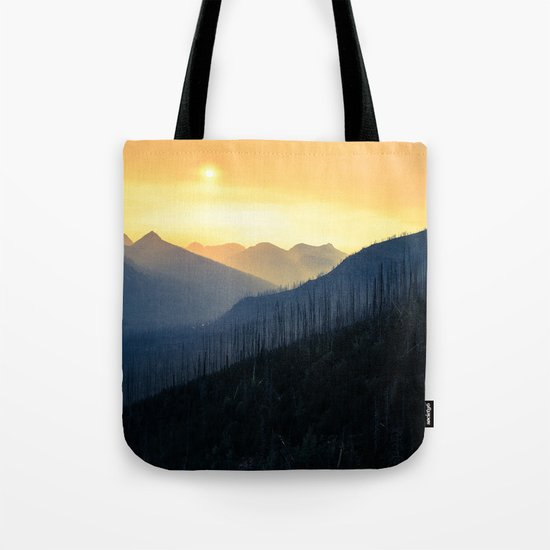 Sunrise Over Mountains Tote Bag