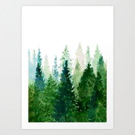 Pine Trees 2 Art Print