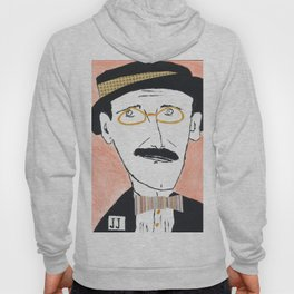 James Joyce with a Hat and Glasses Hoody