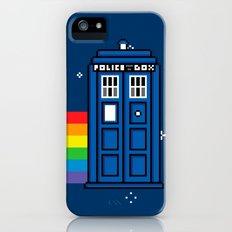TARDIS / Nyan / 8-Bit Poster iPhone (5, 5s) Slim Case
