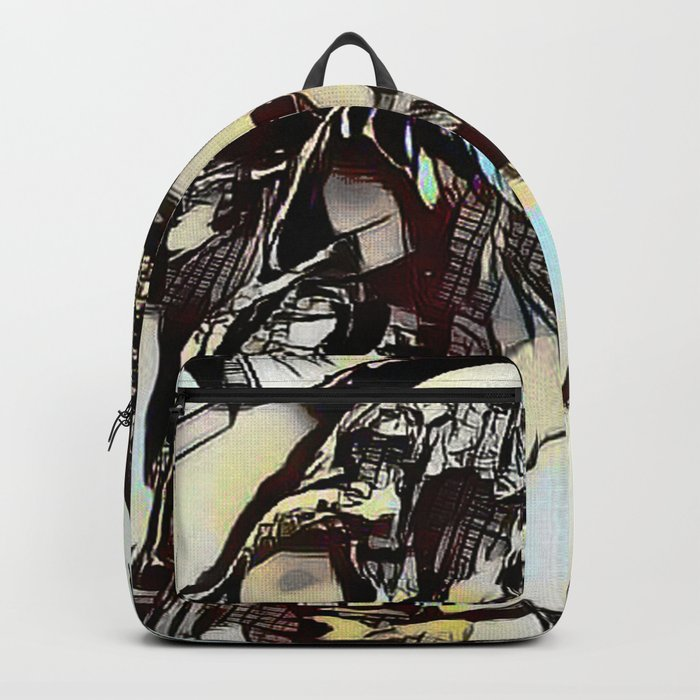 Metal Paper Skull Backpack
