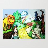 oz Canvas Prints featuring OZ by Jamie Clayton