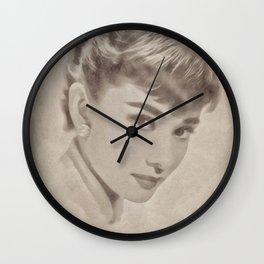 Audrey Hepburn by JS Wall Clock