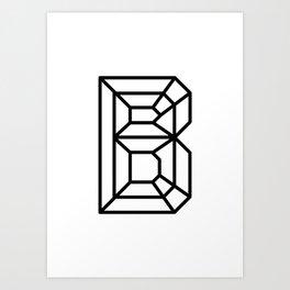 Clear Crystal B Art Print