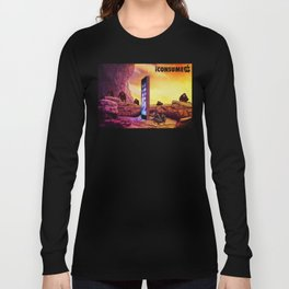 Ape Men meet iPhone Monolith - 2001 A Space Odyssey iCONSUME Long Sleeve T-shirt