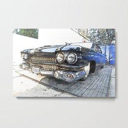 Automotive Classics - Vintage Car Sketches - Horsepower Heaven Art - Caddy Art 2k Metal Print