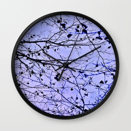 boughs ultraviolet Wall Clock