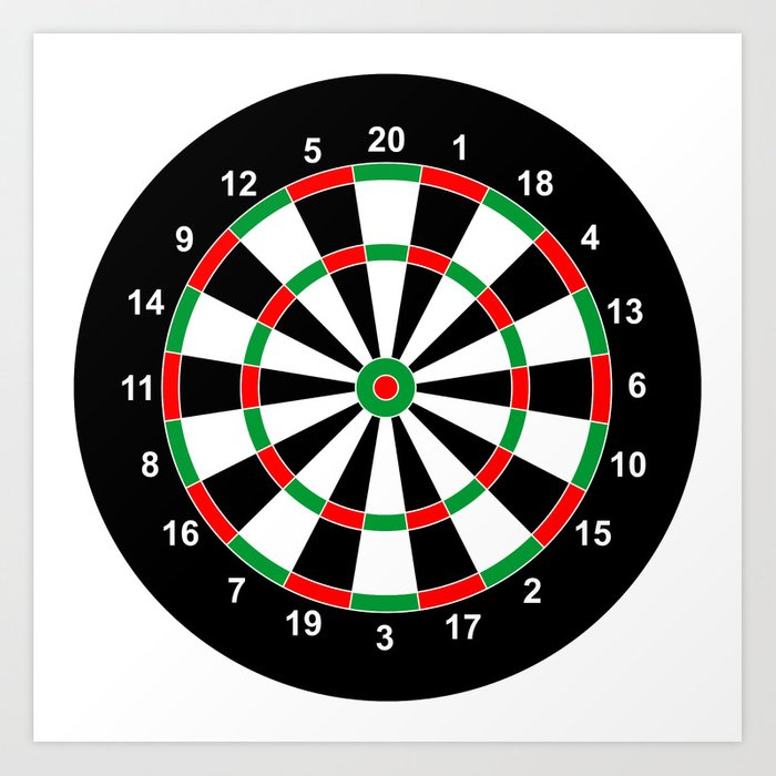 darts game board classic target art print by tony4urban society6