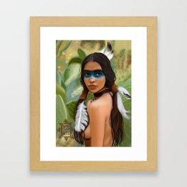 Tribu girl Framed Art Print
