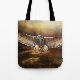 Owl Flight Tote Bag
