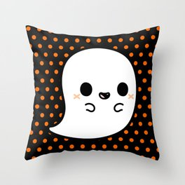 Cute spooky ghost Throw Pillow