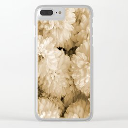 Monochrome Abstract Mums Clear iPhone Case