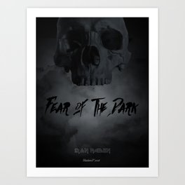 Fear of the dark Art Print