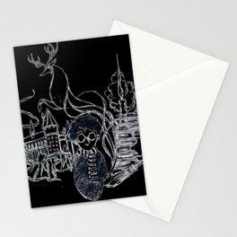HP Inspired Hogwarts Sketch Stationery Cards