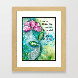 This is the Moment Framed Art Print