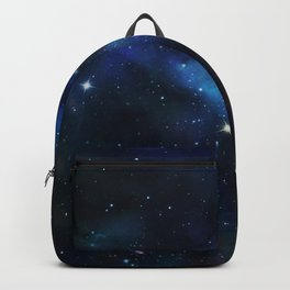 Reach for the Stars Galaxy Nebula Inspirational Quote Backpack