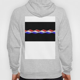 Rectilinear wave ....red,blue white closed. Hoody