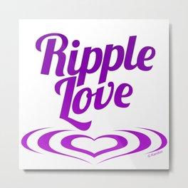 RIPPLE LOVE purple Metal Print
