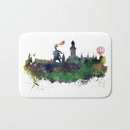 Cracow skyline Bath Mat