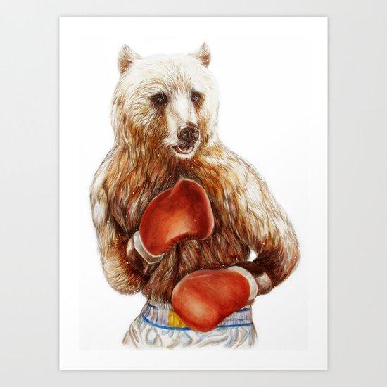 Bear Fighters. Art Print
