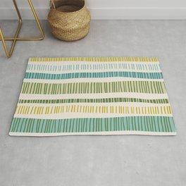 Lime Stripes Rug