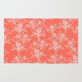 Lily Love in Coral Orange Rug