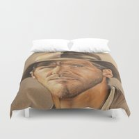 phil jones Duvet Covers featuring Indiana Jones by Ashley Anderson