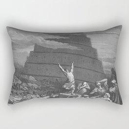 Gustave Dore - Bible Tour de Babel Rectangular Pillow