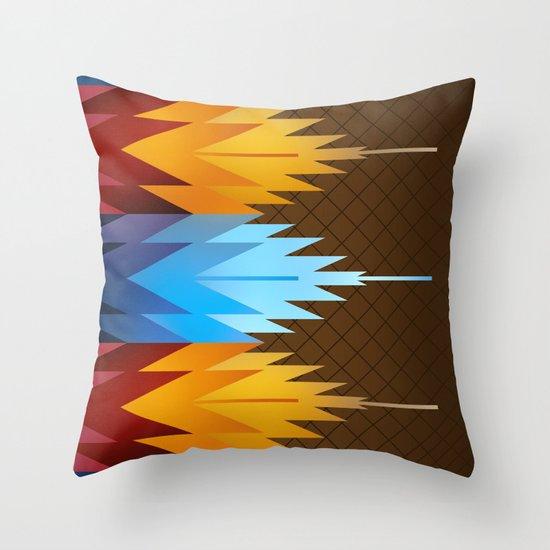 Navajo Fire & Ice Throw Pillow