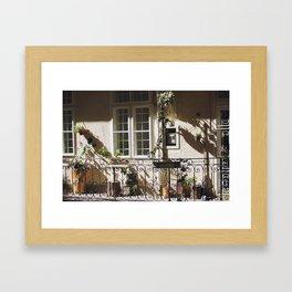 Balcony in Budapest Framed Art Print