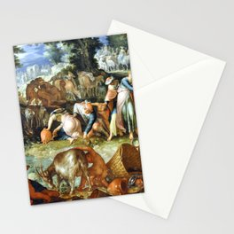 Joachim Wtewael Moses Striking the Rock Stationery Cards