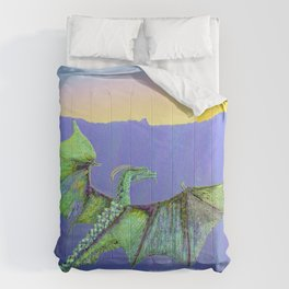Green Crystal Water Dragon Comforters