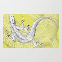 lizard Area & Throw Rugs featuring Lizard by Federico Cortese
