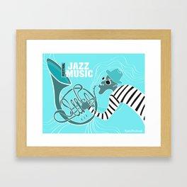 Turquoise Jazz Music Festival Framed Art Print