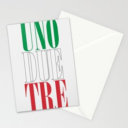 UNO DUE TRE Stationery Cards