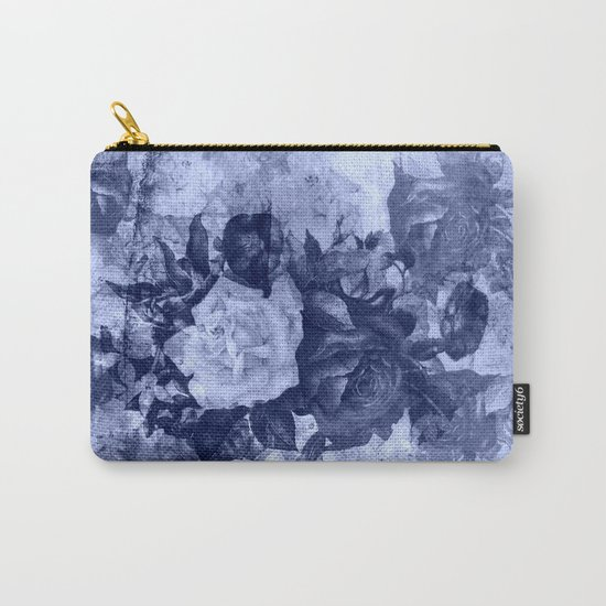 old roses in light blue Carry-All Pouch