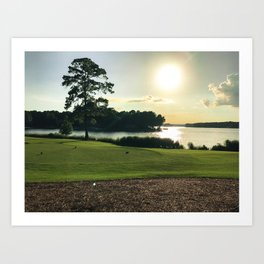 Sunset View from the Course Art Print