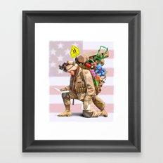 Worries at Home Framed Art Print
